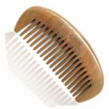Handcraft Green Sandalwood Sandal Wood Half Moon Shape Comb Gift 12cm